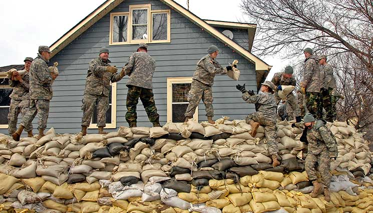 How do sandbags stop flooding