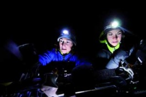 Hands free lighting with headlamps.