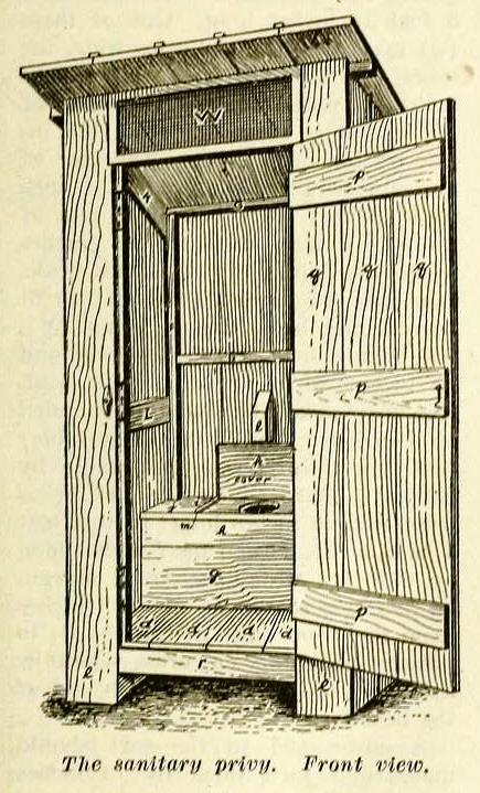 amazing outhouse plans. Outhouse from the front Build an  Privy with plans 1909 The Prepper Journal