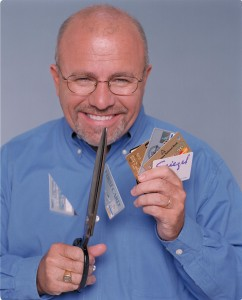 Dave likes to cut up credit cards.