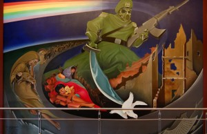 There are a lot of theories about the murals painted in the Denver Airport.