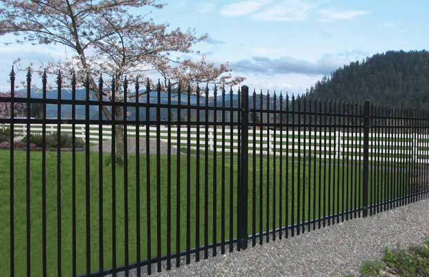 Aluminum Fence around Commercial Property in Leesburg, VA