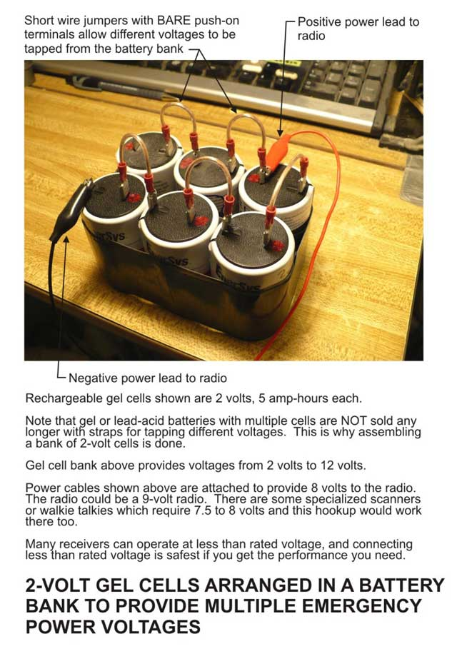 Back up power supply.