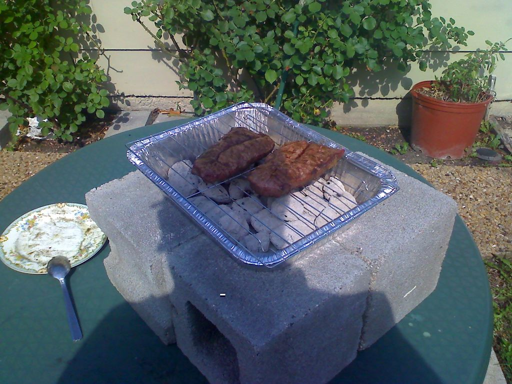 Don't have a grill? Use aluminum baking pans instead.