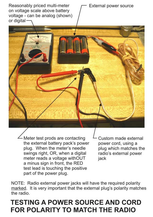 Testing the polarity on your batteries.