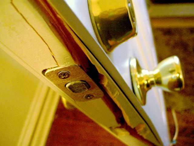 Traditional doors are very easily broken.