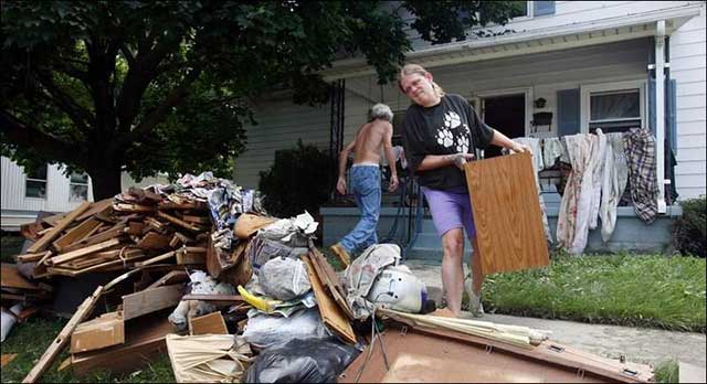 Cleaning up is a nasty but horrible part of the aftermath of any flood.