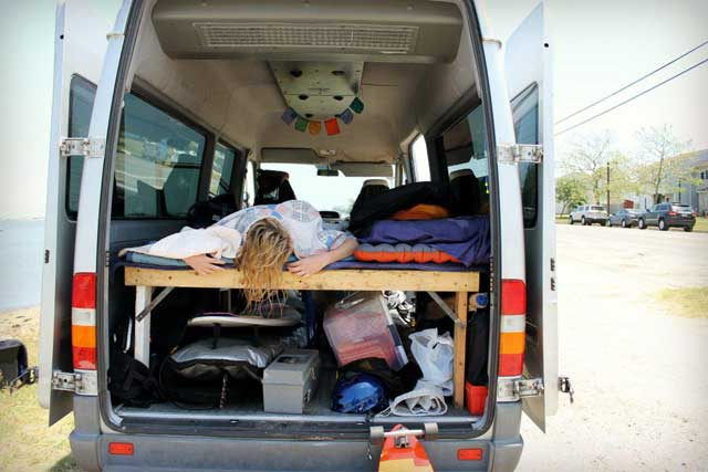 A good sleeping area can make or break you living in your car.