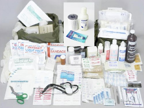 A well stocked first aid kit, not a box of band-aids is a must in emergency situations.