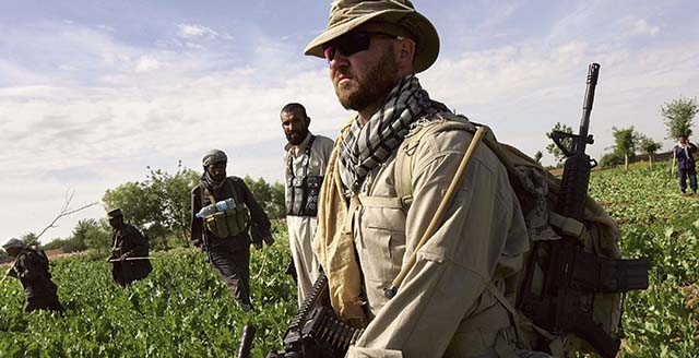 Afghan and US Teams Fight Opium Trade In Helmand Province Of Southern Afghanistan