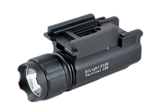 Aimkon HiLight P10S 400 Lumen Pistol LED Strobe Flashlight with Weaver Quick Release