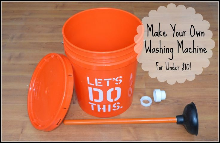 Plunger + bucket = DIY Clothes Washer for your Laundry