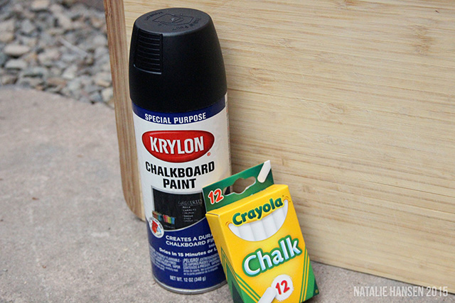 Chalkboard spray paint lets us turn a wall or a spare board into a reusable writing surface for daily life or emergencies.