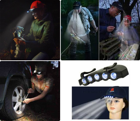 Some clip-on cap lights have progressive-click single-button controls that require running through various light intensities, colors and-or flashing sequences to turn them off. Some are available with one-click select-able settings.