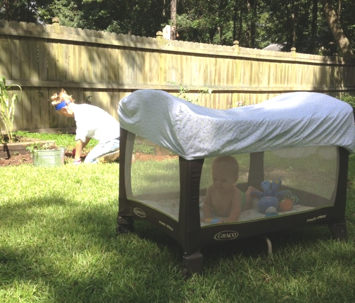 Popular Image An old bedsheet can be used to shade a baby or tractored livestock