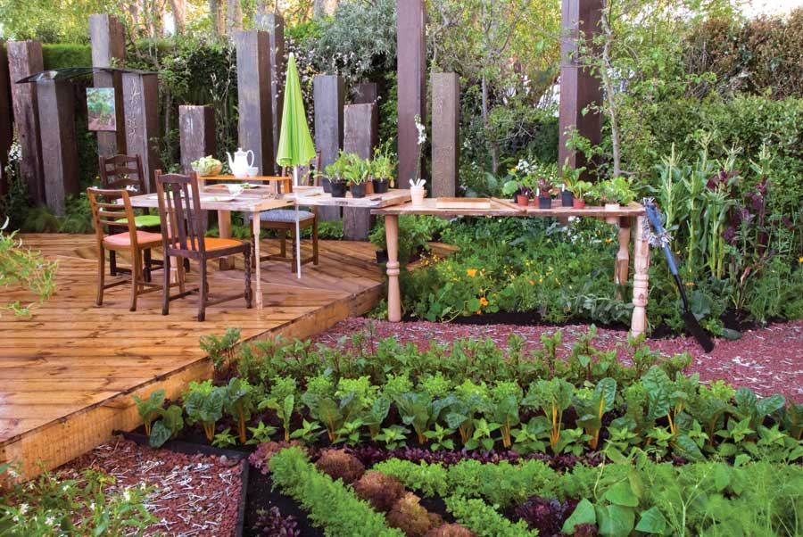 An effectively planned kitchen garden can work well in even a small area and should produce an abundance of fruit, salad crops and vegetables.