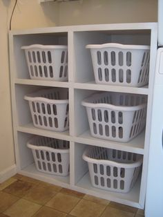 Laundry Baskets Of Varying Sizes Are Cheap, And Pretty Durable. Lined With  A Sheet, Towel Or Garbage Bag, The Holes Donu0027t Matter.